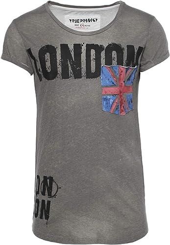 TALLA S. trueprodigy Casual Hombre Marca Camiseta con impresión Estampada Ropa Retro Vintage Rock Vestir Moda Cuello Redondo Manga Corta Slim Fit Designer Fashion T-Shirt