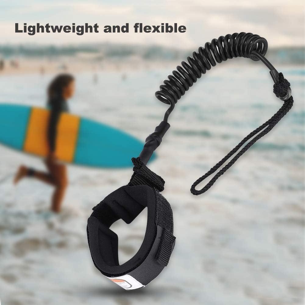 Stand Up Paddle Board 5mm enroul/é Spring Leg Foot Rope Surf Leash pour Surfboard 1PC Delaman Leash de Planche de Surf