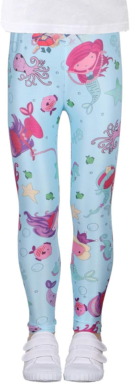 LUOUSE Girls Stretch Leggings Tights Kids Pants Plain Full Length Children Trousers
