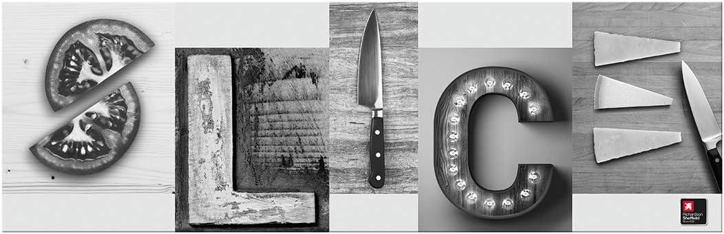 RICHARDSON SHEFFIELD Slice Wall Magnetic Knife Rack, Black, 11.1 x 6.75 x 15.7 cm