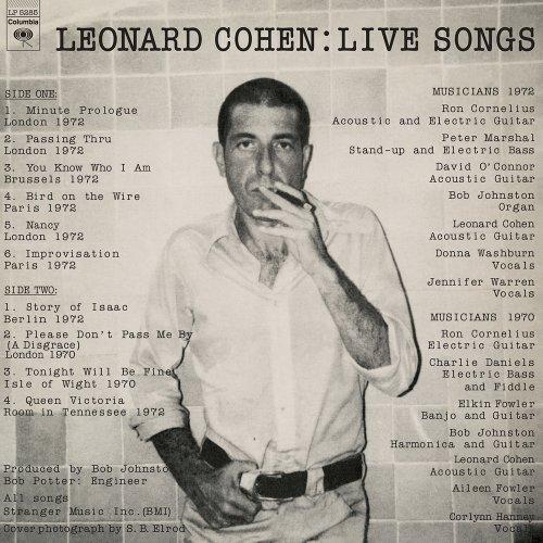 Live Songs [Vinyl] by Cohen, Leonard (Image #1)