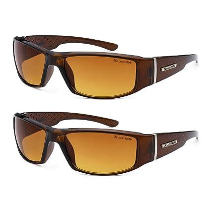 88fa79d641 Amazon.com  HD Vision Anti-Glare Driving Glasses X-Loop 2 PACK w ...