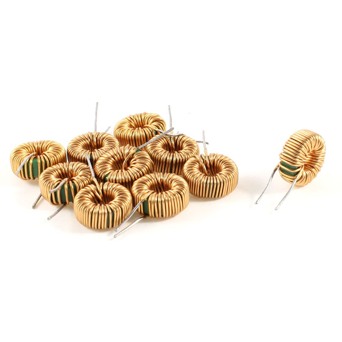 Uxcell a13071500ux0192 10 Piece Toroid Core Inductor Wire Wind Wound 10MH 40mOhm 2 Amp, Coil