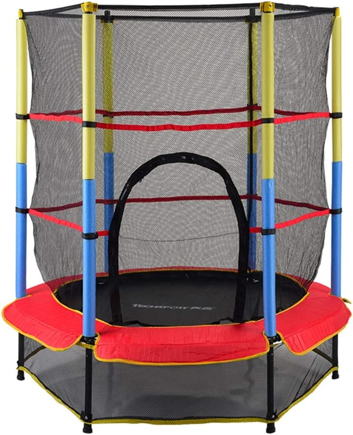 Top Trampoline rond Ø 140cm intérieur extérieur cordes élastiques bungee filet
