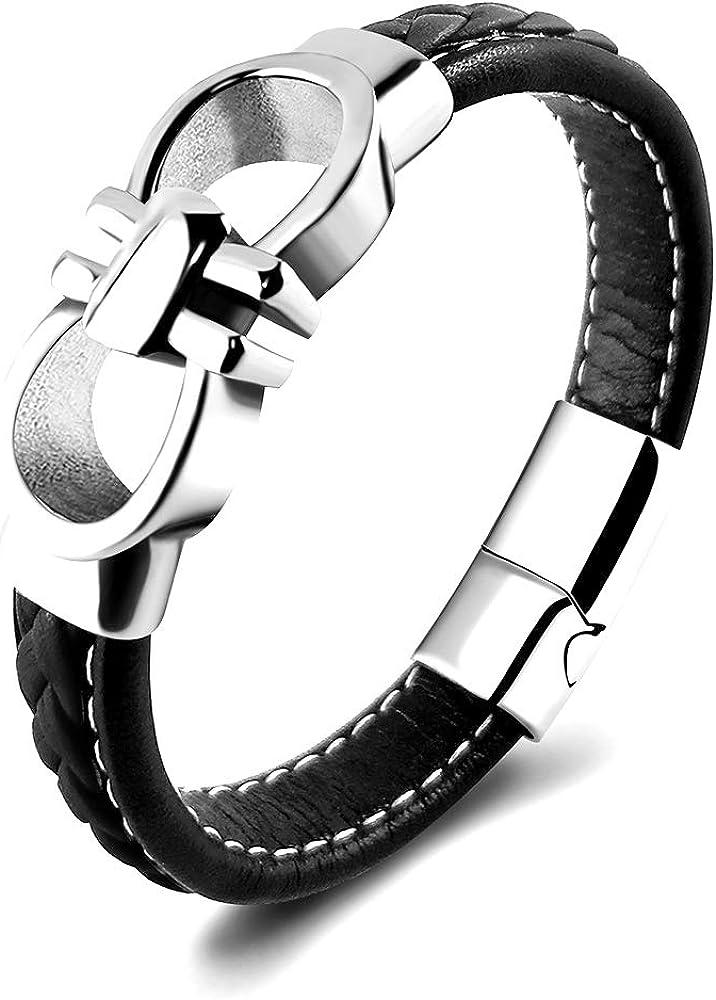 Fuinwvy Stainless Steel Fashion Buckle Bracelet Enamel Bracelet H Bracelet Alphabet Bracelet Fashion Buckle Bangle