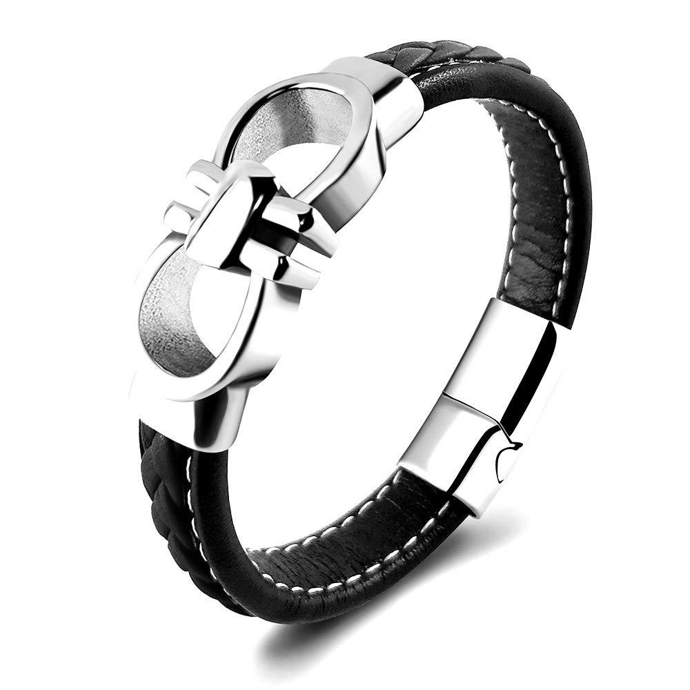 Ferragamo Inspired Gancini Bracelet (Black)