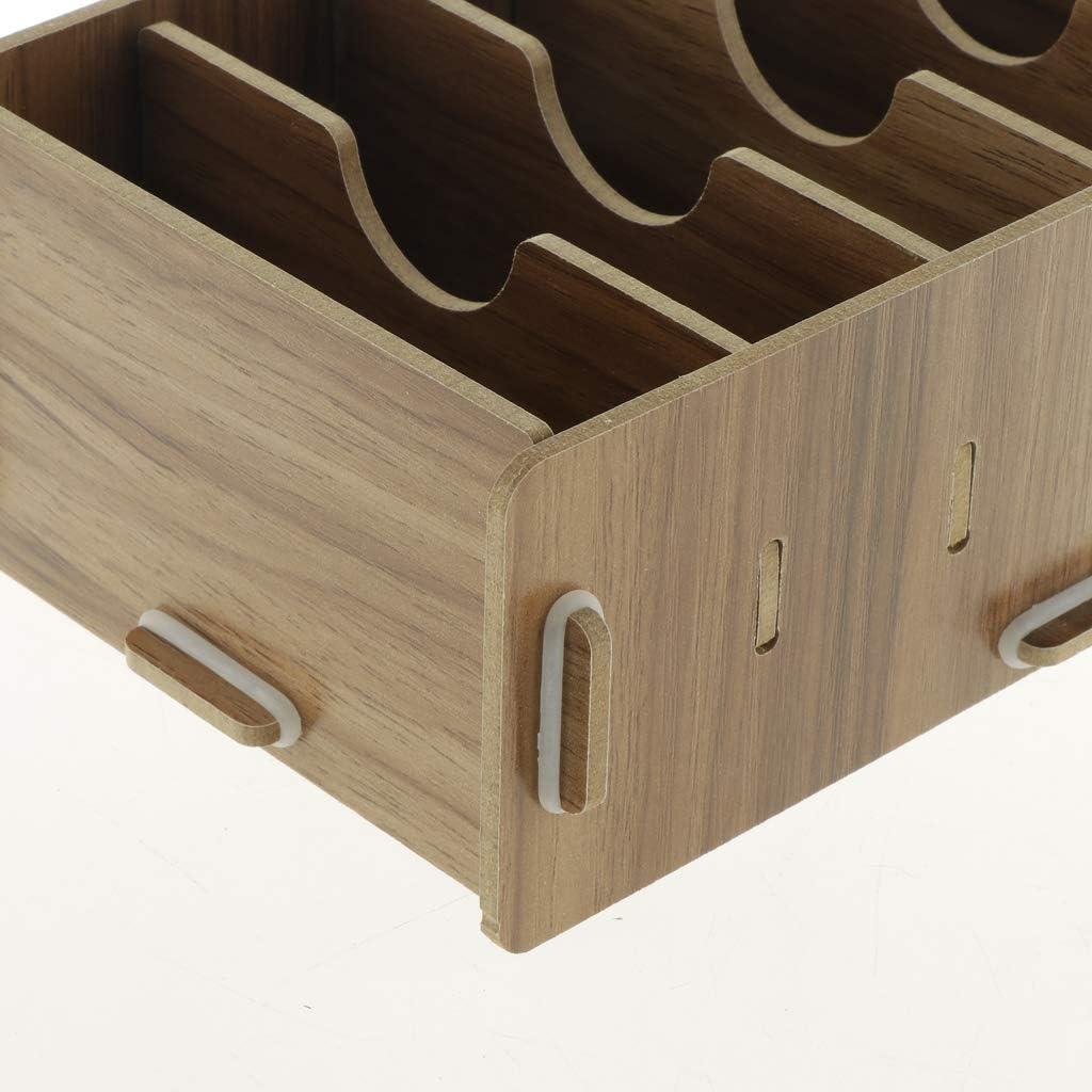 Visitenkartenbox Visitenkarten Aufbewahrung Holzbox Spielkartenbox Holz Kasten 9-F/ächer kesoto 2 Stk
