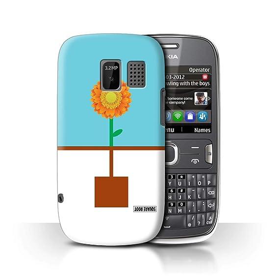 big sale e6004 46fb7 Amazon.com: STUFF4 Phone Case/Cover for Nokia Asha 302 / Square Root ...