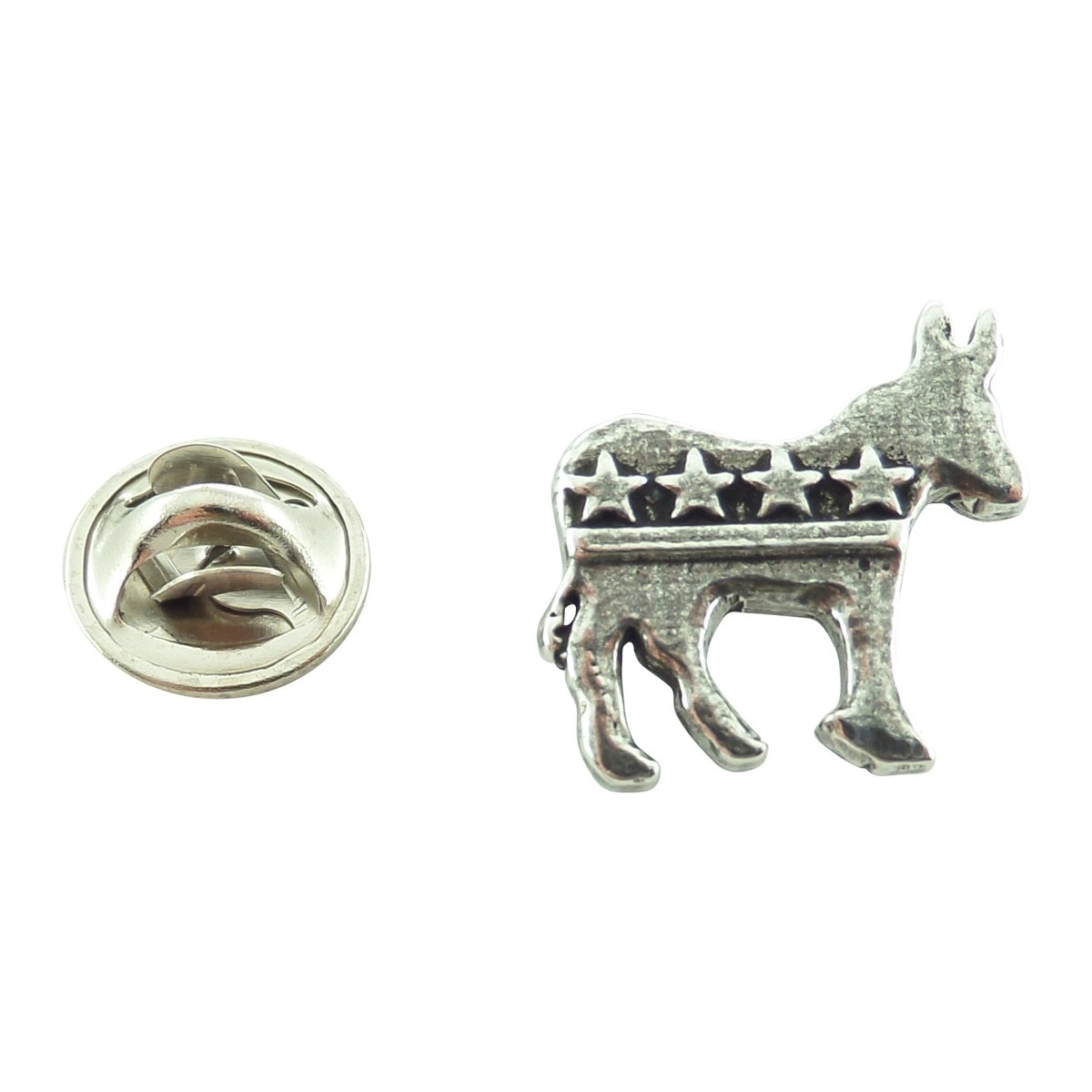 Creative Pewter Designs, Pewter Democrat Donkey Mini Pin, Antiqued Finish, A1032MP