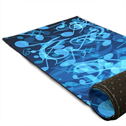 Amazon.com : CCRIM Blue Music Print Crystal Velvet Yoga Mats ...
