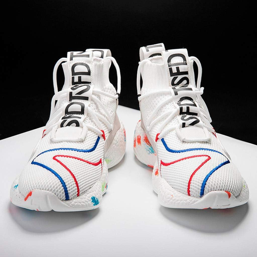 OPAKY Zapatillas de Running para Hombre Zapatillas de Deporte Par de Malla al Aire Libre con Cordones Zapatos Deportivos Casuales Zapatos Transpirables: Amazon.es: Zapatos y complementos