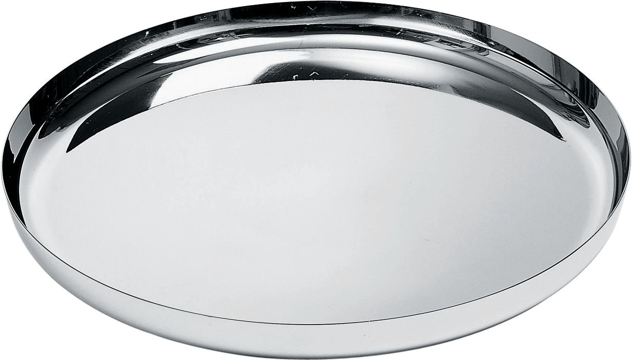 Alessi 35 cm round tray in 18 10 stainless steel with mirror polished amazon co uk kitchen home