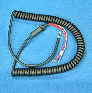 replacement mic cord 6 wire 10 ft coiled. Black Bedroom Furniture Sets. Home Design Ideas
