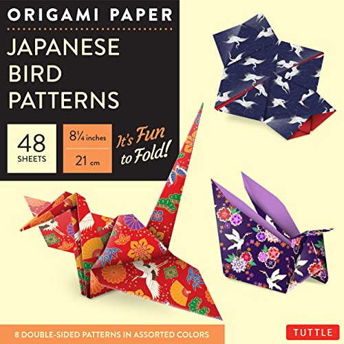 Origami Paper - Japanese Bird Patterns - 8 1/4