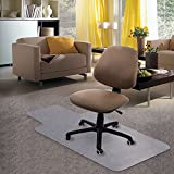 Kuyal Carpet Chair Mat, 48'' x 36'' PVC Home Office Desk Chair Mat For Floor Protection, Clear, Studded, BPA Free Matte ANTI-SLIP With LIP
