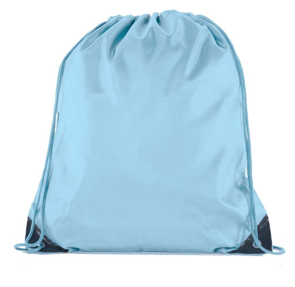 Mato & Hash 25 Bags - Double Strap Drawstring Gym Sack Promotional Party Favor Bag - 15 Colors