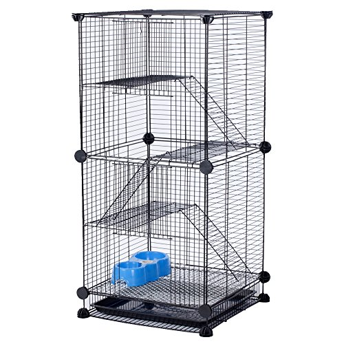 Modular Add-Up Small Animal Cages Series CW63088 (Black Cage)