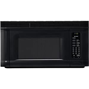 Sharp R-1405 950-Watt 1-2/5-Cubic-Foot Over-the-Range Microwave, Black