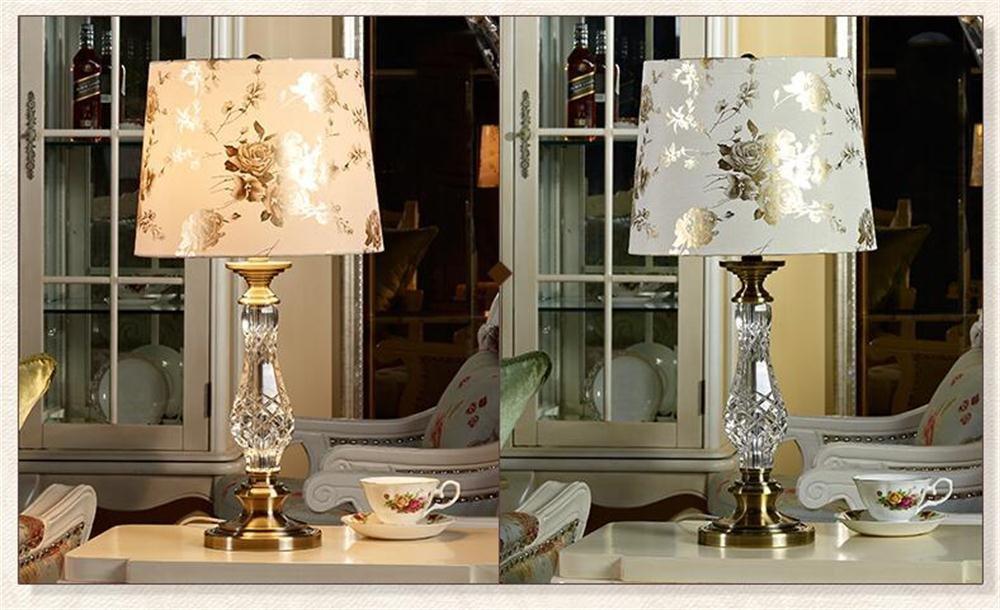 TOYM- Europäische Kristalltischlampe Schlafzimmer Nachttischlampe Amerikanische Moderne Moderne Moderne Einfache Kreative Wohnzimmer Tischlampe B071NFG875 | Einfach zu spielen, freies Leben  162816