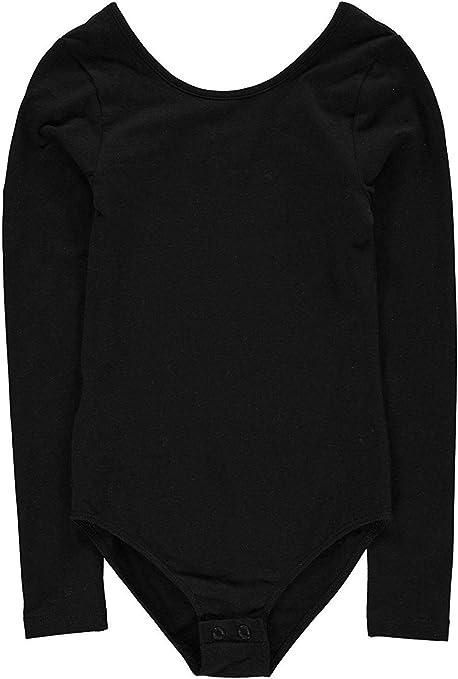 Girls Designer Firetrap Lightweight Round Neck Long Sleeves Bodysuit 4-13 Yrs