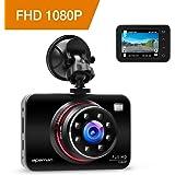 APEMAN Dash Cam Full HD 1080p Caméra Embarquée Caméra de Voiture Enregistreur Vidéo de Voiture, WDR, Moniteur de stationnement, Capteur-G, Enregistrement en Boucle