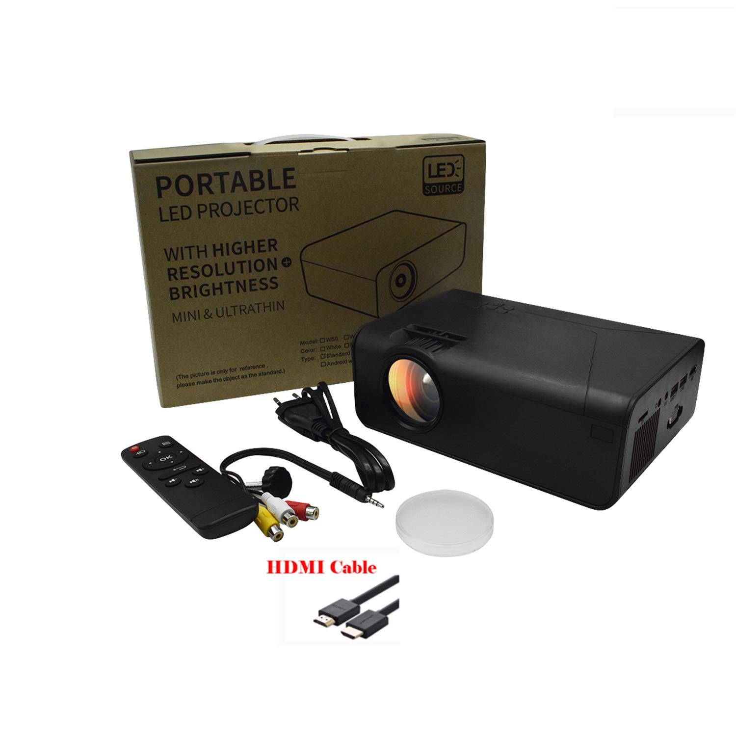 SOTEFE® Mini LED Proyector Portable 4000 Lumens: Amazon.es ...
