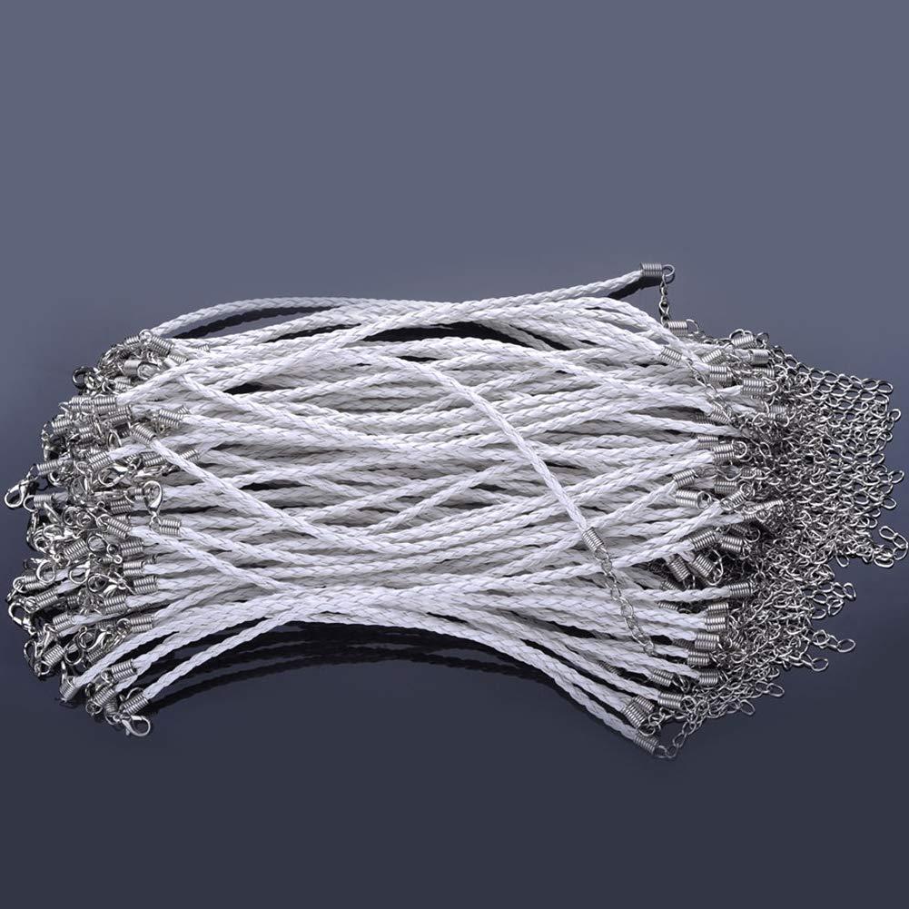 Pinksee 20PCS Multiple Color Braided Leather Rope Adjustable Strand Bracelet