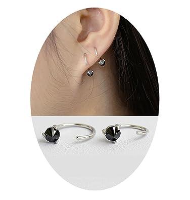 Amazoncom 925 Sterling Silver Ear Cuff 4mm Cz Rhinestone Earring