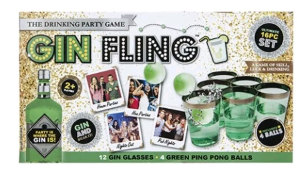Gin fling Pong party game Natale regalo festa bevendo gioco PMS