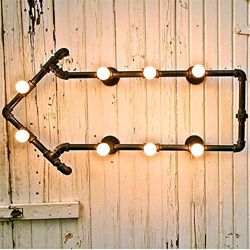 - LED Wall Lights Wall Sconce Light Fixture Up Down Decorative Wall Lighting Loft Decorated with Wrought-Iron Pipe Wall Lamps Retro Industrial hallways Balcony Arrow Study bar Cafe (6870)