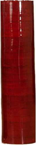 Green Floral Crafts – 20 Cylinder Bamboo Floor Vase – Mahogany Red