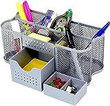 DecoBros Desk Supplies Organizer Caddy, Silver