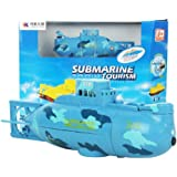 Gillberry RC Water Boat 6CH Speedboat Model High Powered 3.7V Toy Boat Plastic Model Large RC Submarine Outdoor Toys