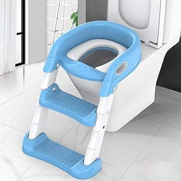 KUANDARYJ Antideslizante, Plegable Reductor WC niños Aseo Asiento con Escalera, Orinales para niños Asiento para Inodoro de Bebe Orinal Infantil Formación, Blue: Amazon.es: Deportes y aire libre