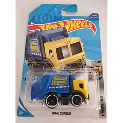 Hot Wheels 2020 HW Metro Total Disposal (Garbage Truck) 55/250, Yellow and Blue: Toys & Games