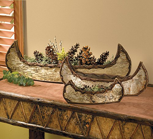 BLACK FOREST DECOR Nesting Birch Canoes (Set of 3)