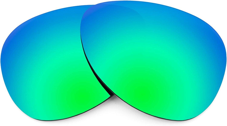 Revant Verres de Rechange pour Oakley Kickback - Compatibles avec les Lunettes de Soleil Oakley Kickback Vert Émeraude Mirrorshield - Polarisés