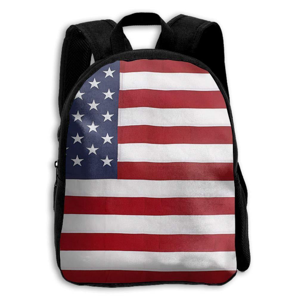 YEWEI フラッグ 米国 メンズ レディース 3Dプリント ワイド ジッパー 学校 旅行 バッグ ショルダーバッグ 子供 バックパック   B07GCGRP3G
