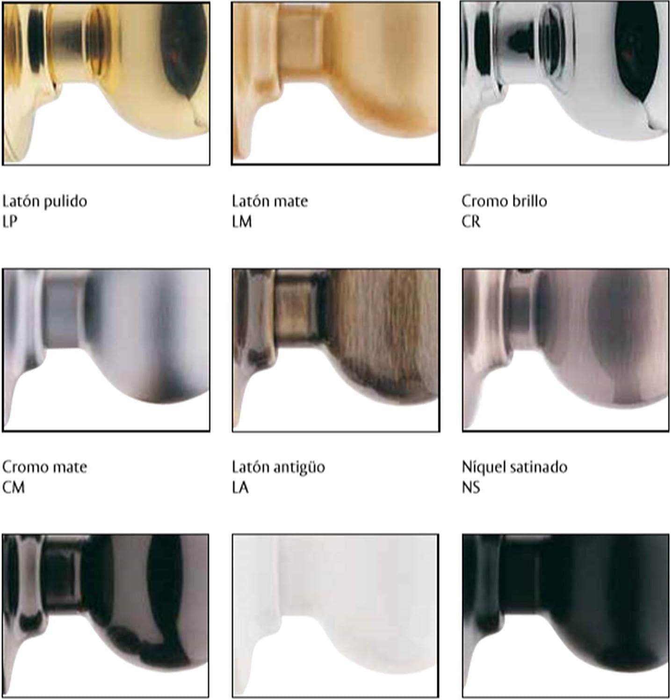 Mod.250360 Forma de Tulipa con Acabado Laton Mate Accionamiento Suave y Seguro ECOSPAIN Pomo Puerta de Paso con Cerradura Muletilla Mecanismo Multifuncional Que Sirve para Pomo como para Manilla