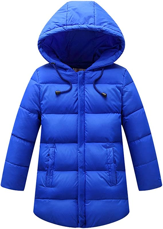 Mocilation Girls Lightweight Hooded Down Quilted Zip Comfortable Puffer Jacket Parka Coat