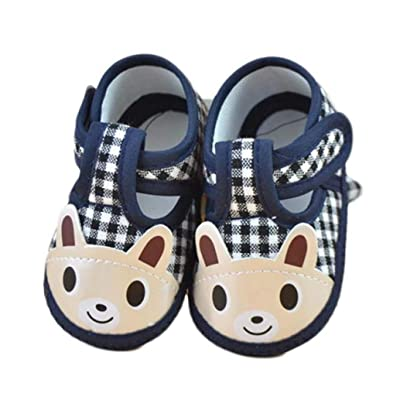 Inverlee Newborn Girl Boy Soft Sole Crib Toddler Shoes Canvas Sneaker
