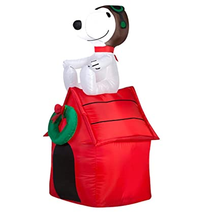 gemmy inflatable snoopy on house 35 foot holiday inflatables outdoor decorations g08 19373