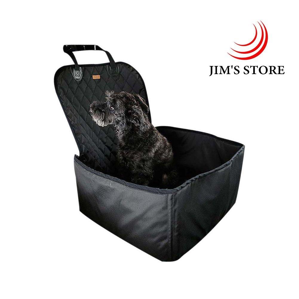 JIM'S STORE 2-in-1 Hund Autositzbezug, Einzelnsitz Fü r Vordersitze Wasserdicht Hund Sitzbezug Autoschutzdecke Hunde Rutschfester Backing Design fü r Alle Autos, Trucks & Suvs Jim' s Stores