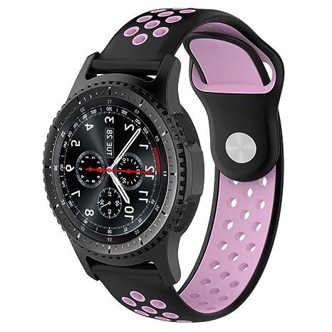 Logobeing Correa para Samsung Gear S3 Frontier Smartwatch/Classic Correa Reemplazo de Silicona Suave Replacement Pulsera de MuñEca (C)