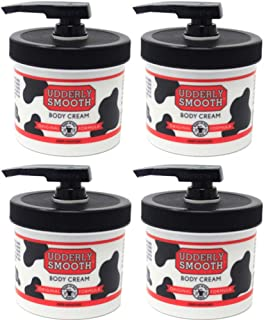 product image for Udderly Smooth Body Cream Skin Moisturizer, 10-Ounce Jars with Dispenser Pump (Pack of 4)