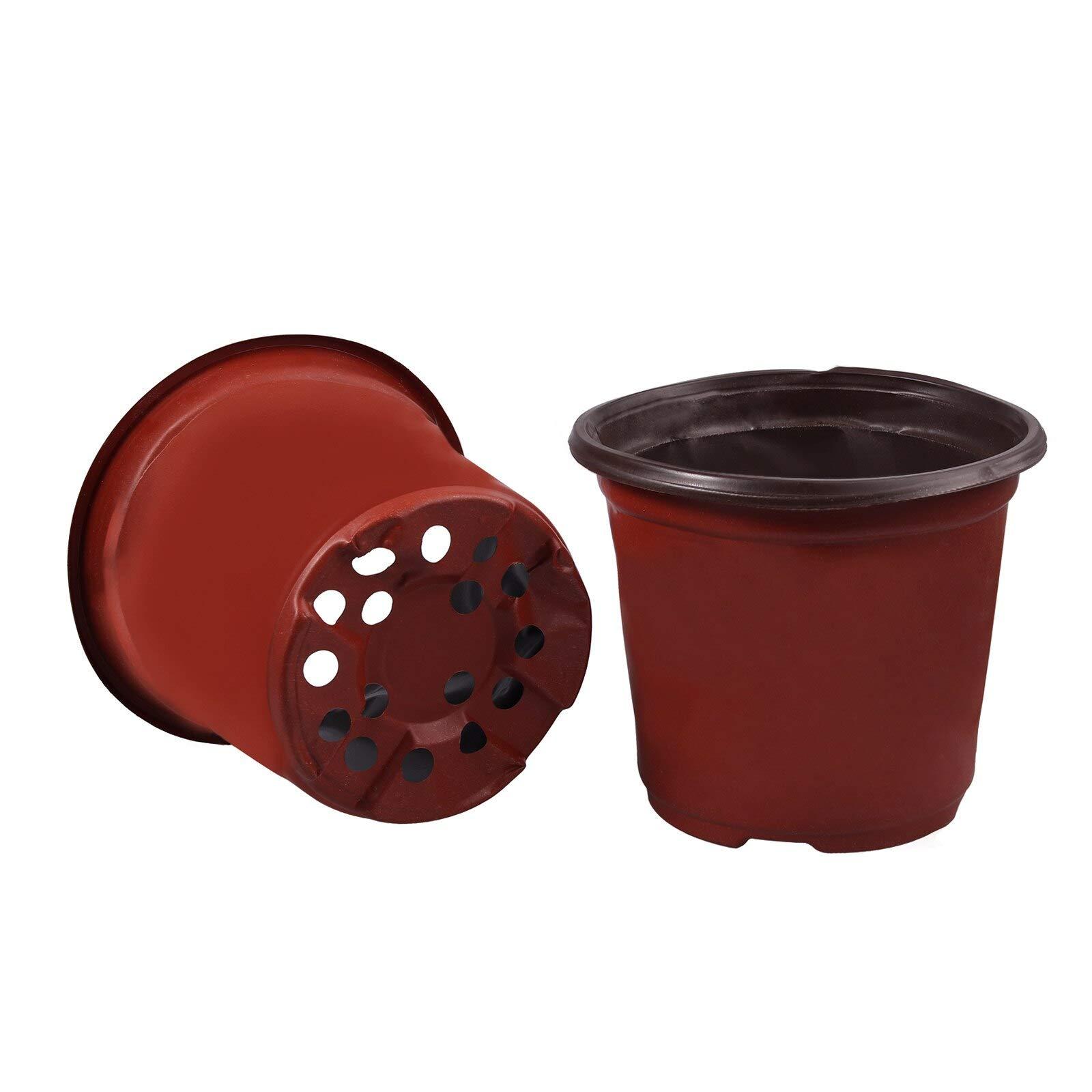 Square Planter - 100pcs Dual Color Plastic Garden Nursery Pots Flowerpot Seedlings Planter Containers Nursery Pots Flowerpot Garden Pots by Verbena