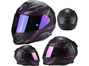Amazon.es: Scorpion Casco Moto exo-510 Air Sync, Matt black/pink, talla XXS