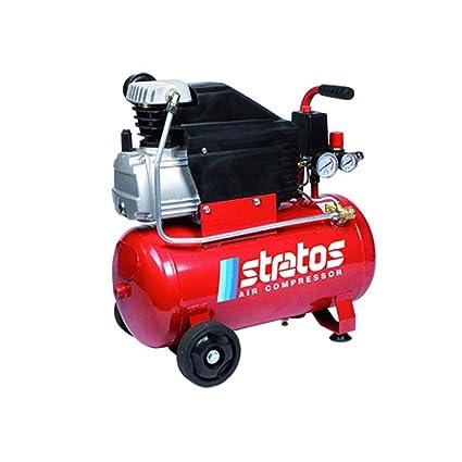 Compresor Stratos 24 de aceite de tipo coaxial con cilindro de fundido. costruito