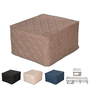 EvergreenWeb – Puf Cama Individual con colchón Poliuretano expandido Alto 10 cm – Suite – Salvaspazio