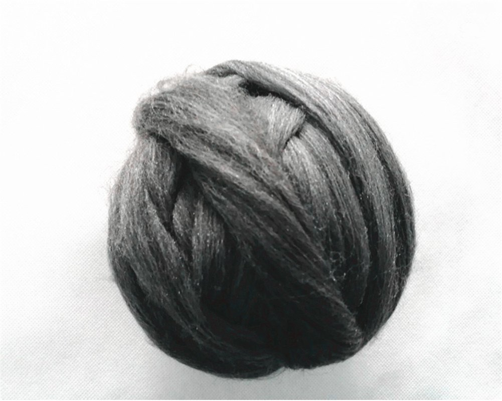 Wool Roving For Felting Spinning And Making Dreadlocks Craft DIY Needle Felting Wool Tops Navy Blue